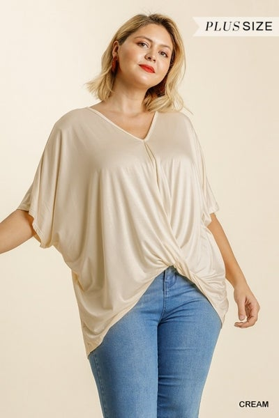 Umgee - Curvy Relaxed Fit Surplice Top