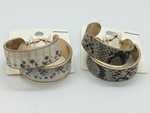 Printed Hoop Earring - 2 Prints