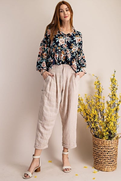 Easel - Plaid City Slouch Pant