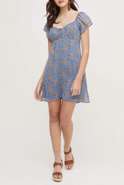 Lush - Blue Coral Floral Dress
