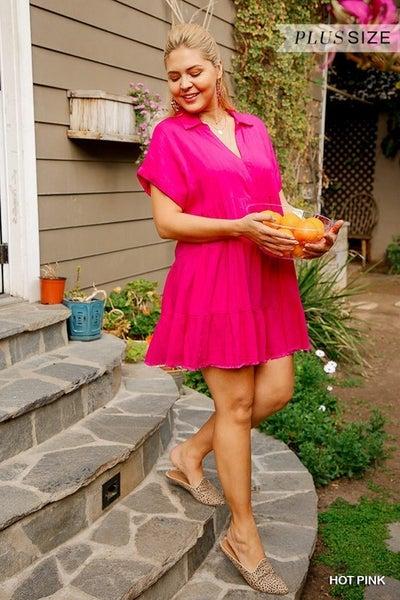 Umgee - CurvyRuffled Tiered Dress