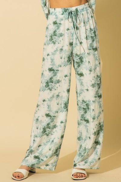 HYFVE - Tie Dye Print Wide Leg Pants - 2 Colors