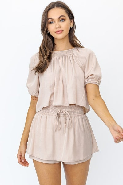 Le Lis - Smocking Waist Layered Skirt
