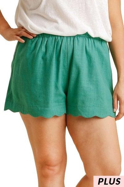 Umgee - Curvy Linen Blend Shorts