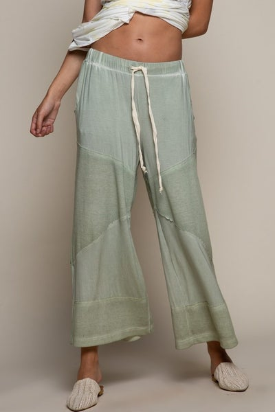POL - Loose Knit Culott Pants