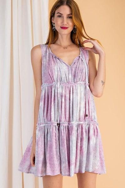 Easel - Every Single Day Tie Dye Dress