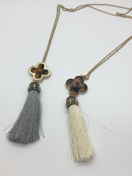 Pendant Tassel Necklace - 2 Colors