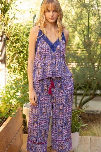 Ailivia Print Cami and Cullottes Set