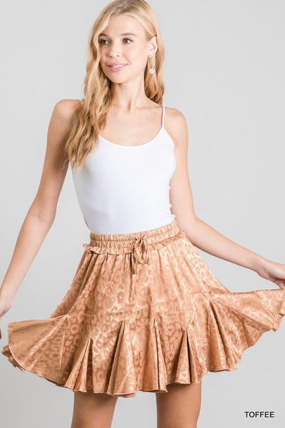 Jodifl - Reflective Flared Pleats Skirt