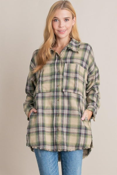 L Love - Flannel Button Up Shirt - 2 Colors