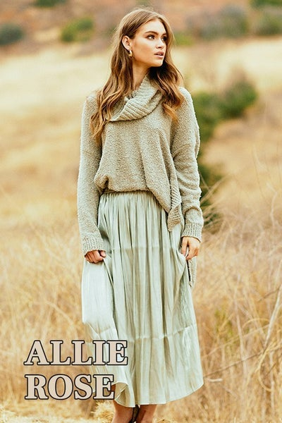 Allie Rose - Light Moss Sweater