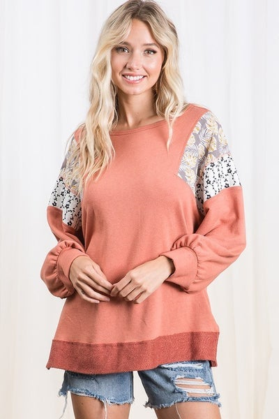 Ces Femme - Solid Self Fabric Mix-N-Match Boxy Top