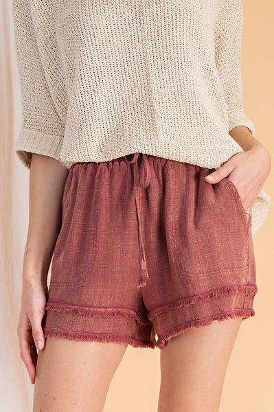 Easel - Linen Washed Castaway  Shorts