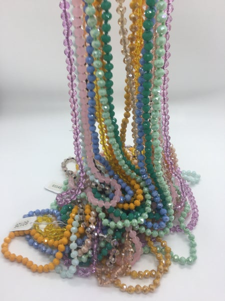 Solid Bead Long Necklace - 13 Colors