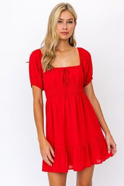 Le Lis - Back Tie Ruffled Dress