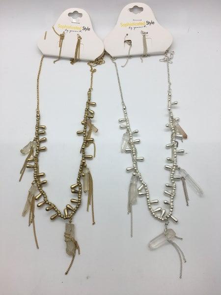 Quartz Necklace - 2 Colors