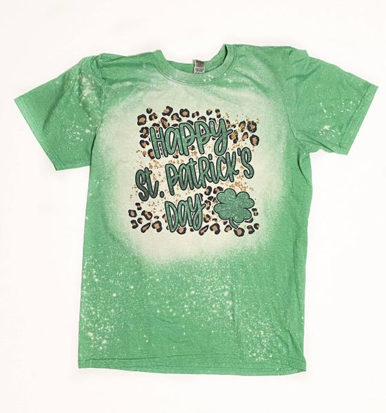 St Patricks Day Bleached Tee
