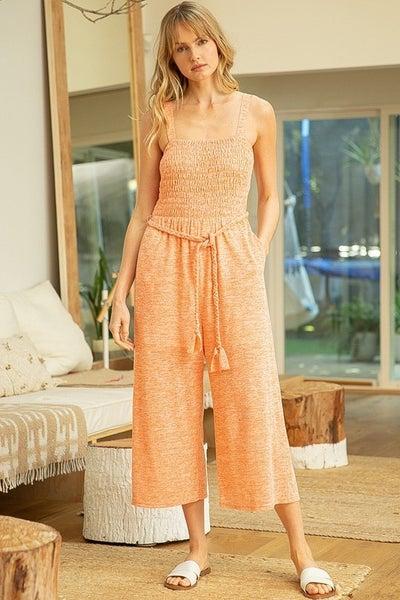 Elizabeth Wide Legs Smocked Jumpsuit