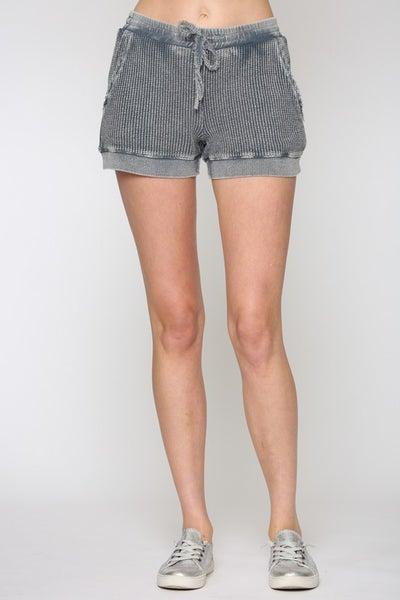 Fate - Washed Waffle Knit Shorts