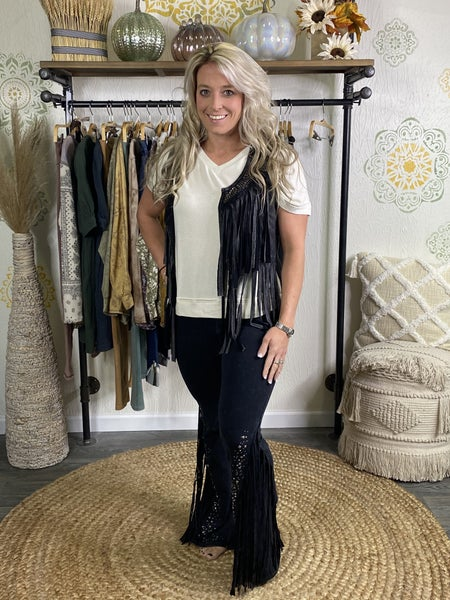 T Party - Stone & Fringe Long Pant