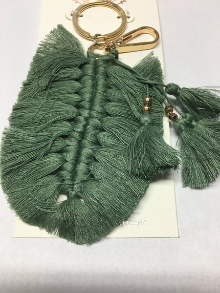 Braided Tassel Key Chain - Green - TLC