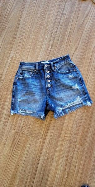KanCan - High Rise Button Fly Shorts