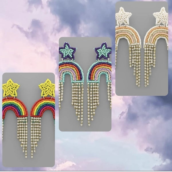 Rainbow Bling Earring - 3 Colors
