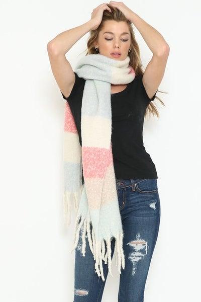 Sweet Pea Fluffy Blanket Scarf