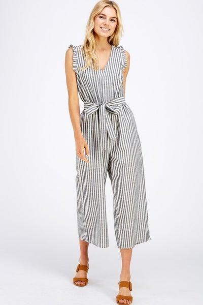Allie Rose - Navy Stripe Jumpsuit