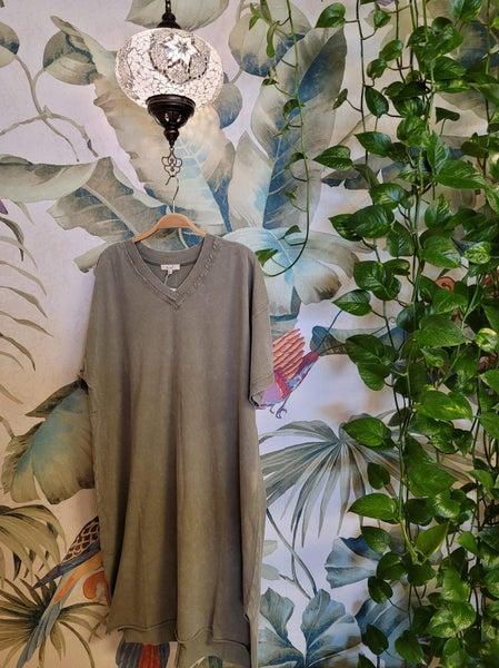 Easel - Mineral Wash Dress