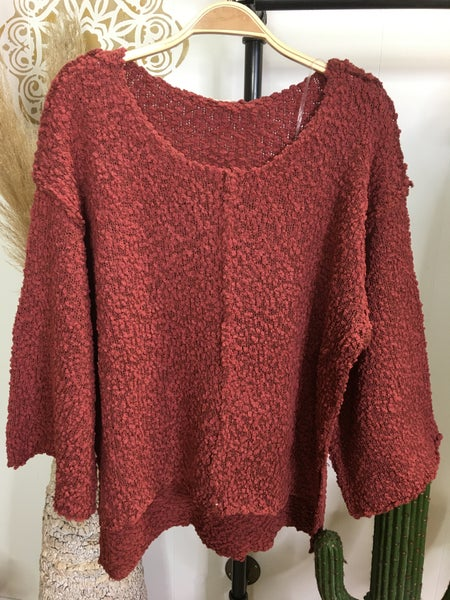 Entro - Wide Sleeve High-Lo Sweater