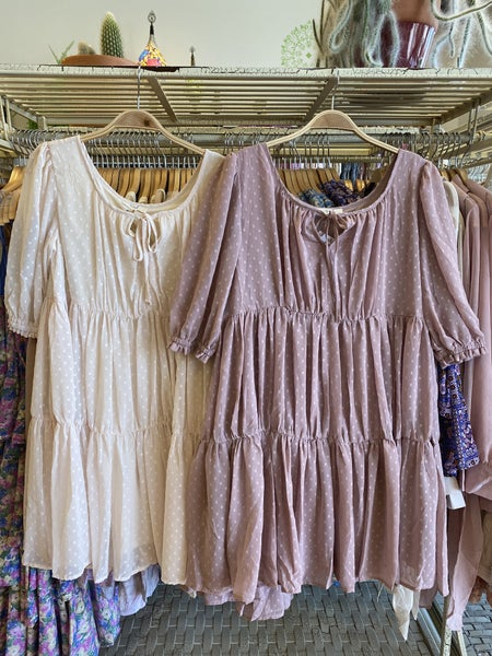 Easel - Pompom Chiffon Tunic Dress