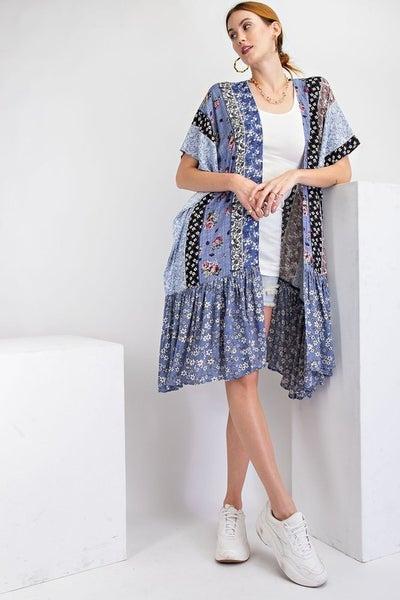 Easel - Good Fortune Kimono Cardigan