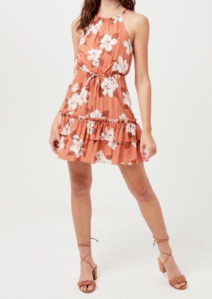 Lush - Haltered Tiered Mini Dress
