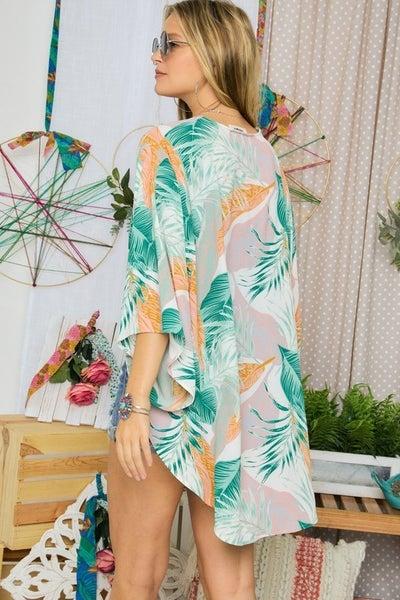 Adora - Floral Open Front kimono