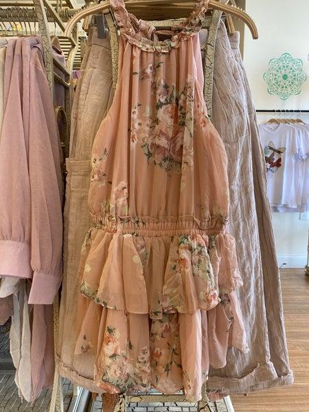 Mustard Seed - Flower Printed Romper Dress