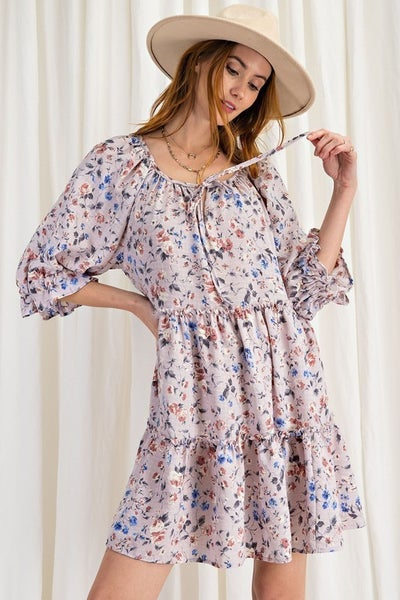 Easel - Your Lovely Mini Floral Dress