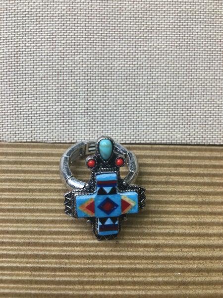 Western Navajo Print Ring