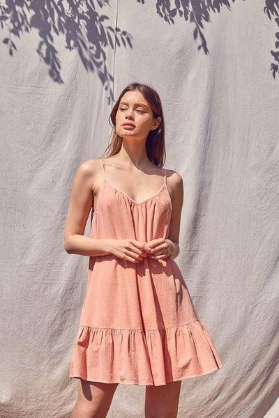 Mustard Seed - Garment Dye Mini Dress