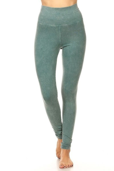 T Party - Mineral Wash Fold Over Legging