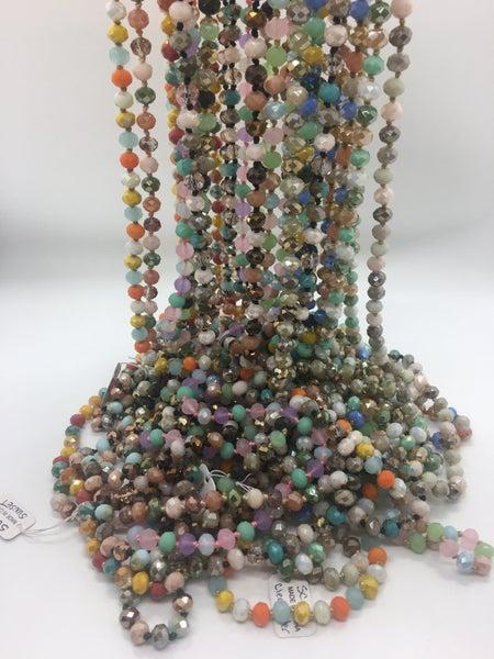 Multi Bead Long Necklace - 15 Colors