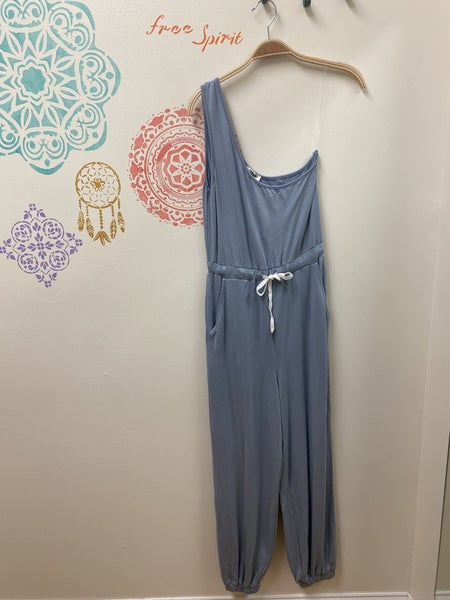 Made With Love - One Shoulder Waist Tie Jumpsuit