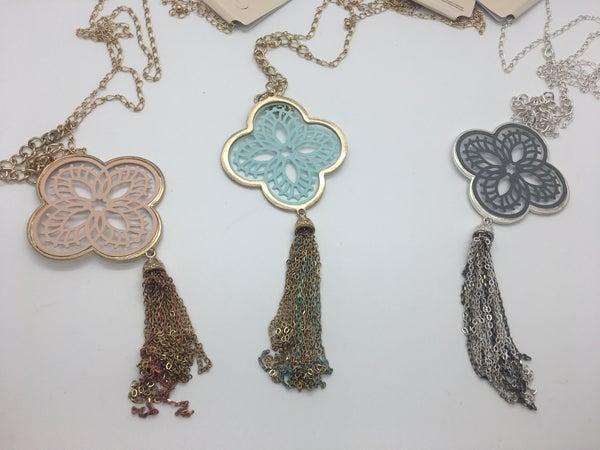 Tassel Chain Necklace - 3 Colors