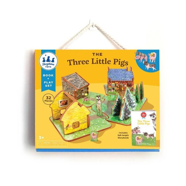 Storytime Toys - The Three Little Pigs Book & Play Set