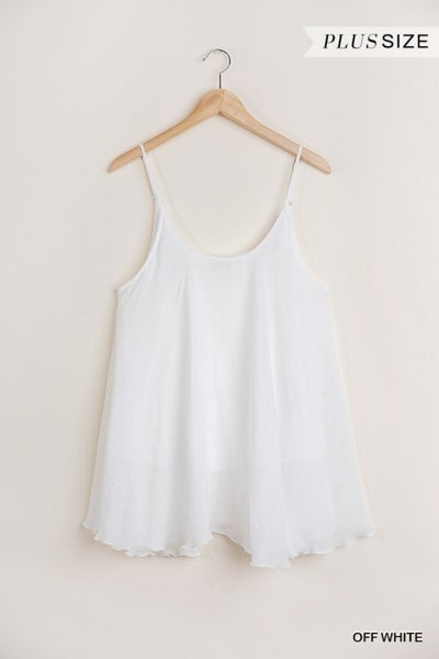 Umgee - Curvy Sleeveless Top with Flowy Silhouette