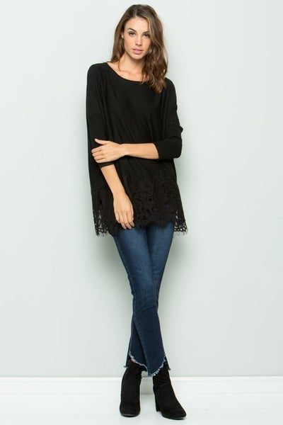 See & Be Seen - Lace Trim Sweater