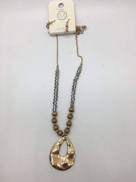 Glass & Wood Bead Necklace