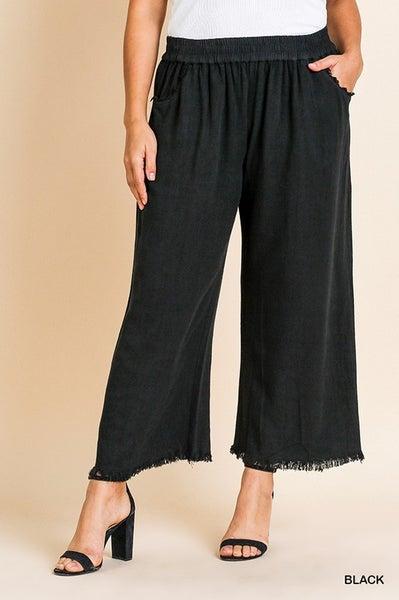 Umgee - Curvy Wide Leg Pant - 4 Colors