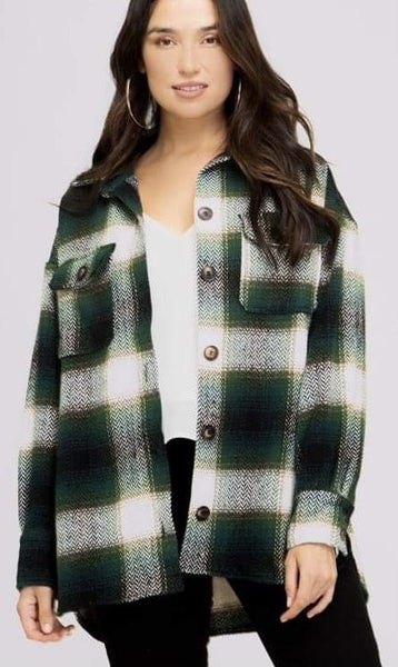 She Sky - Flannel Plaid Button Down