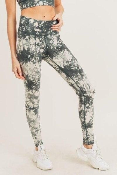Mono B - Tie-Dye Cotton High-Waist Leggings